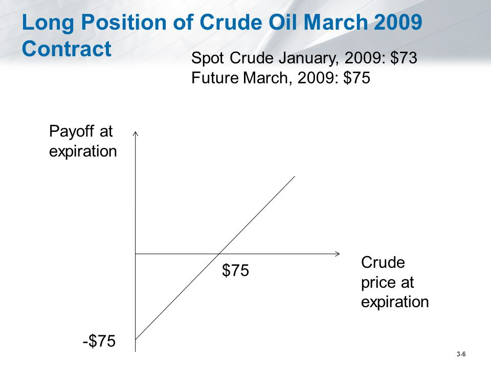 Long Position of Crude Oil March 2009 Contract