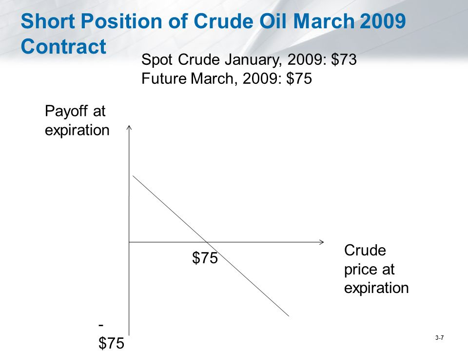 Short Position of Crude Oil March 2009 Contract
