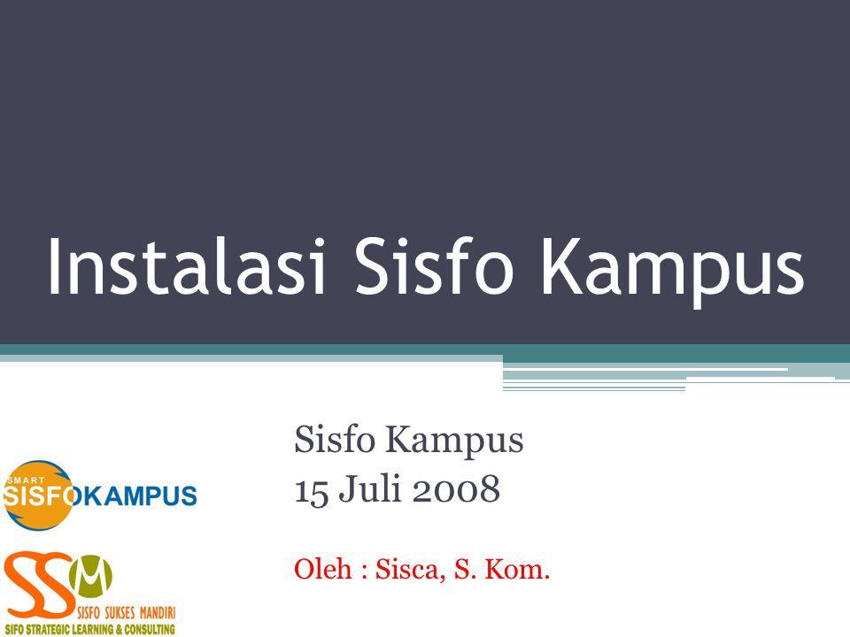 Instalasi Sisfo Kampus