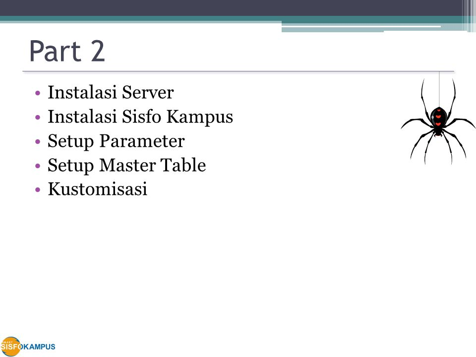 Part 2 Instalasi Server Instalasi Sisfo Kampus Setup Parameter