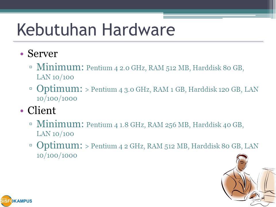 Kebutuhan Hardware Server Client
