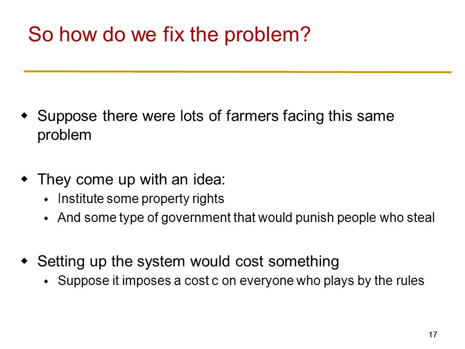 So how do we fix the problem