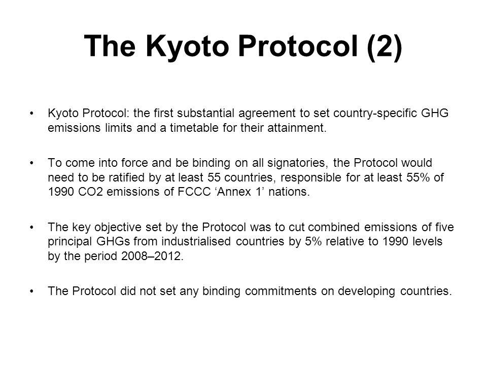 The Kyoto Protocol (2)
