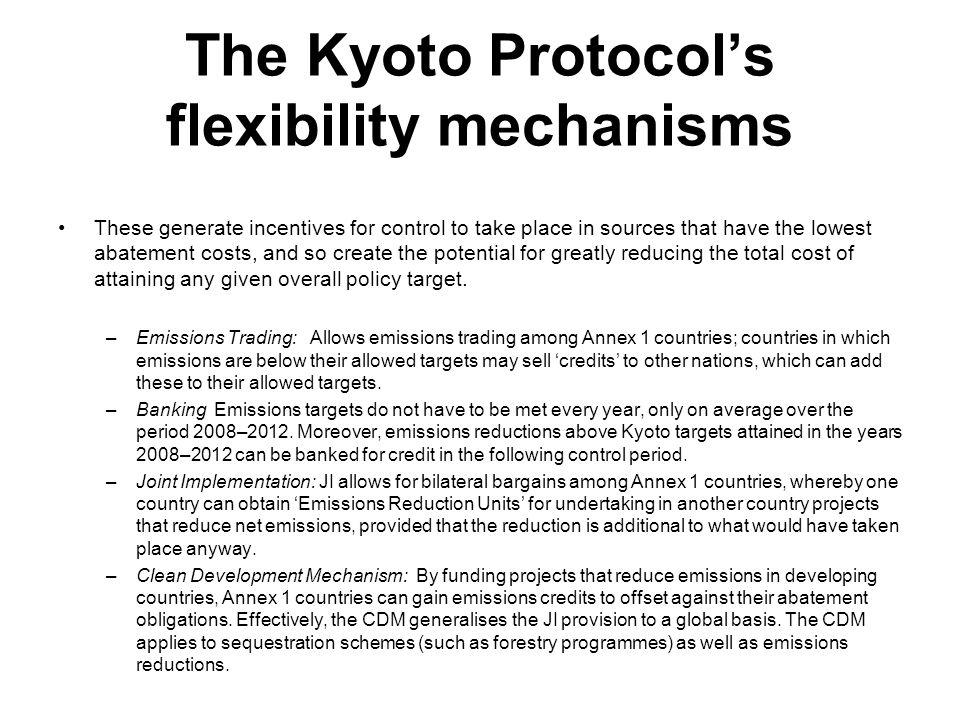 The Kyoto Protocol's flexibility mechanisms