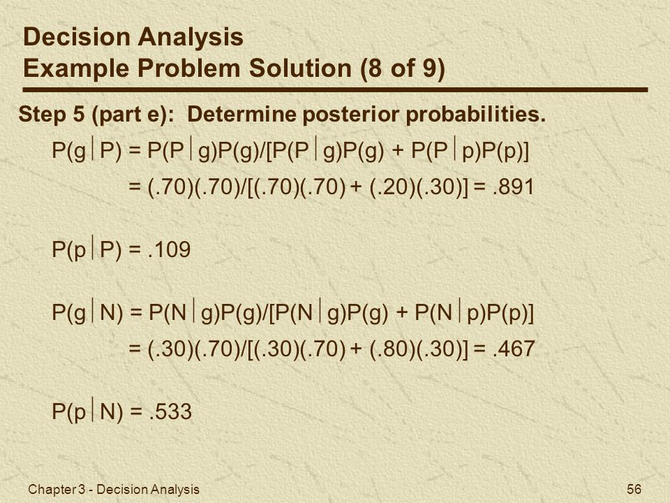 Example Problem Solution (8 of 9)