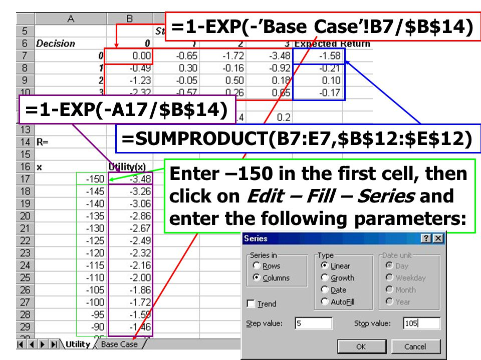 =1-EXP(-'Base Case'!B7/$B$14)