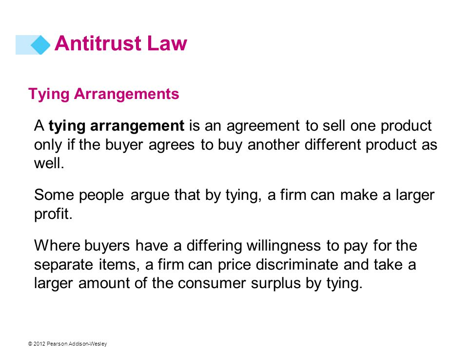 Antitrust Law Tying Arrangements