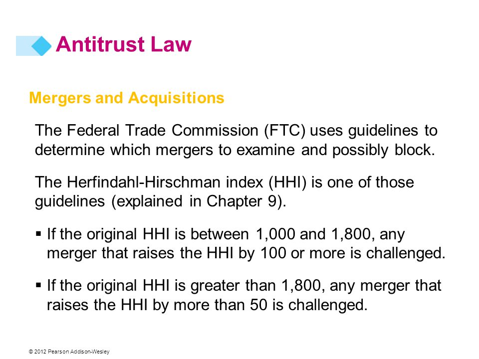 Antitrust Law Mergers and Acquisitions