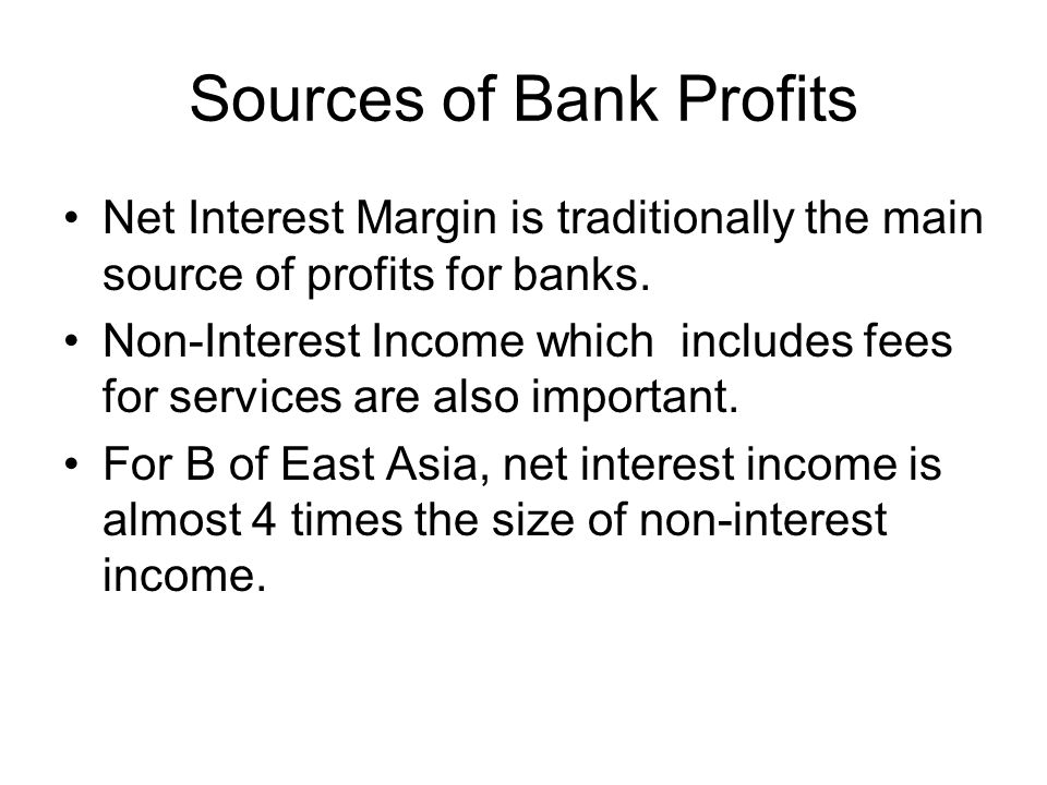 Sources of Bank Profits