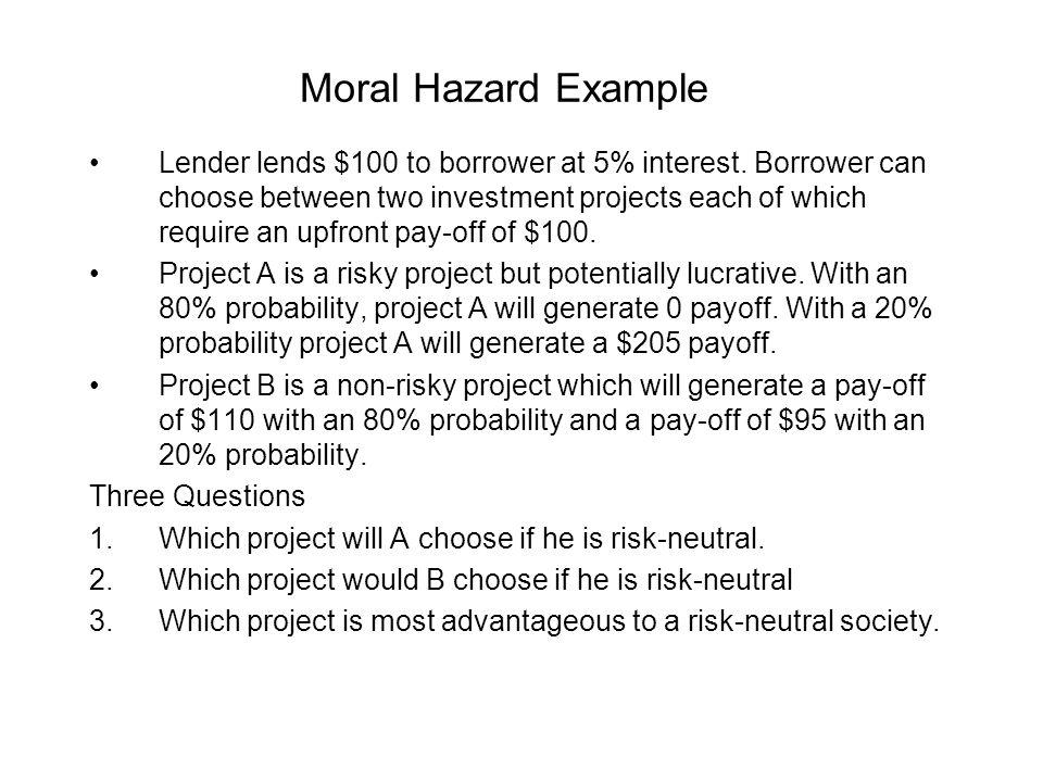 Moral Hazard Example