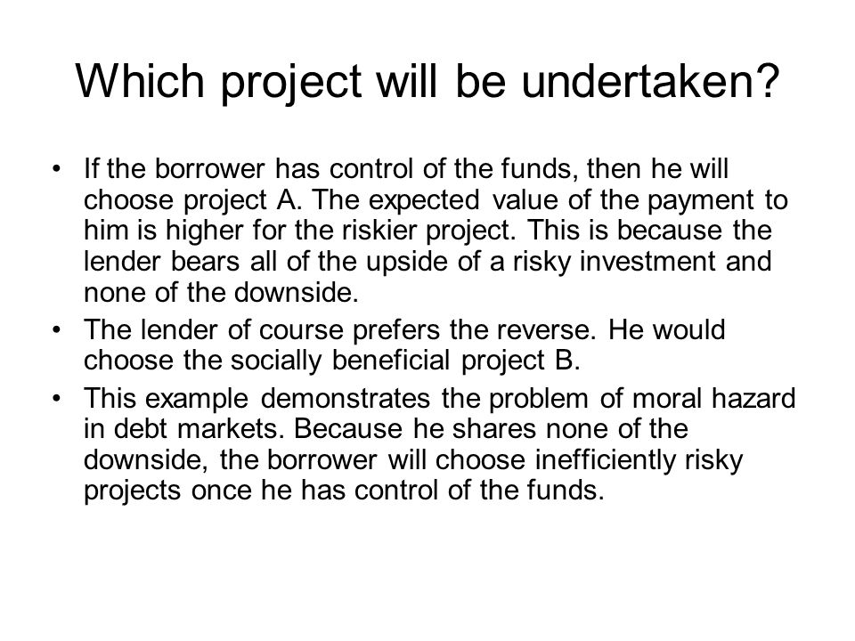Which project will be undertaken
