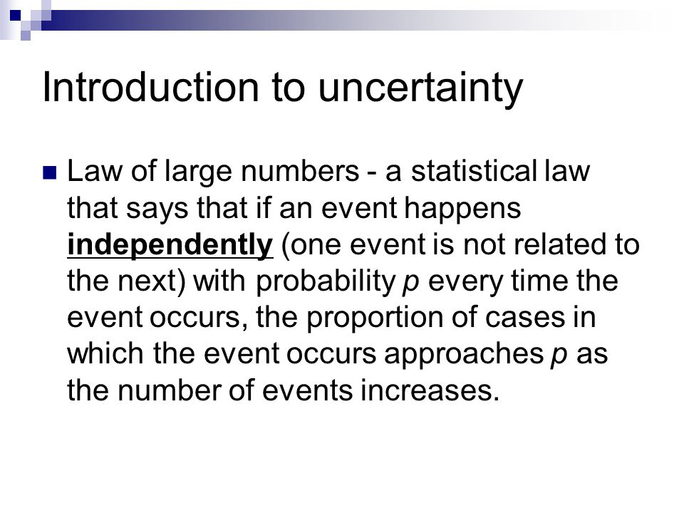Introduction to uncertainty