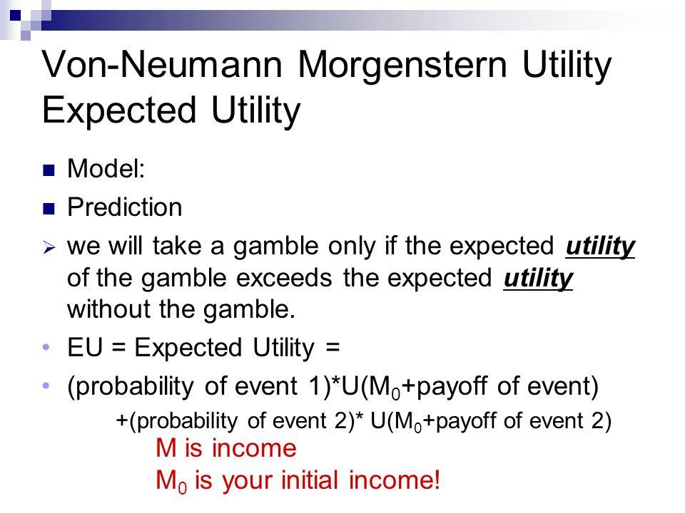 Von-Neumann Morgenstern Utility Expected Utility