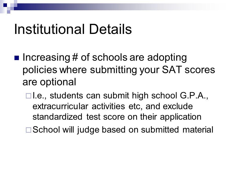 Institutional Details