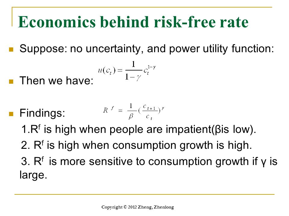 Economics behind risk-free rate
