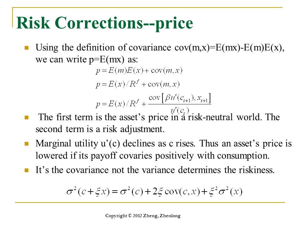 Risk Corrections--price