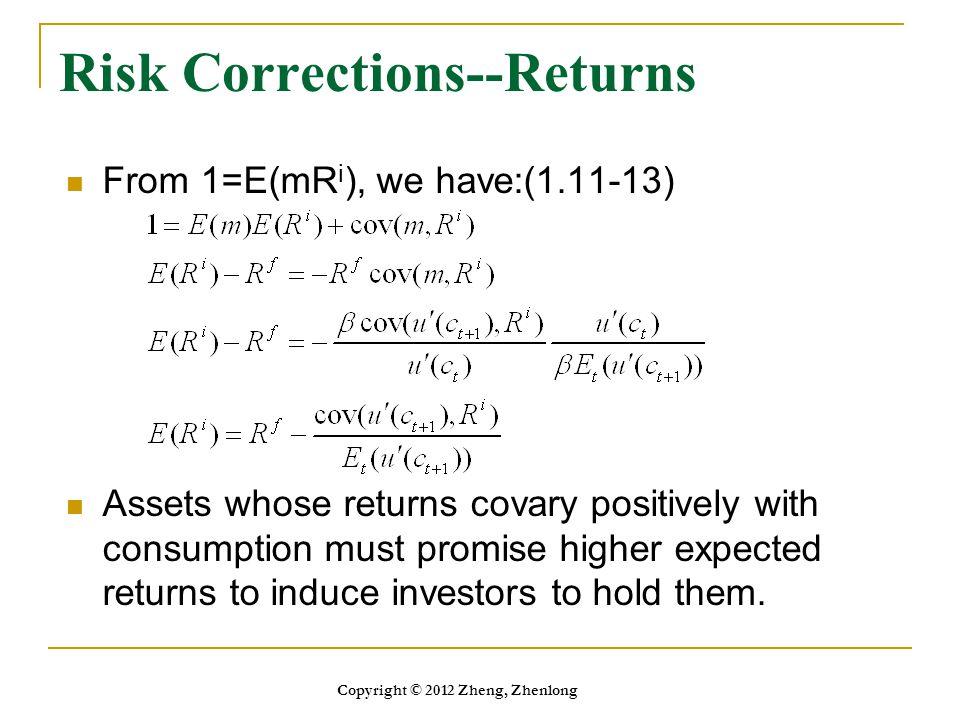 Risk Corrections--Returns