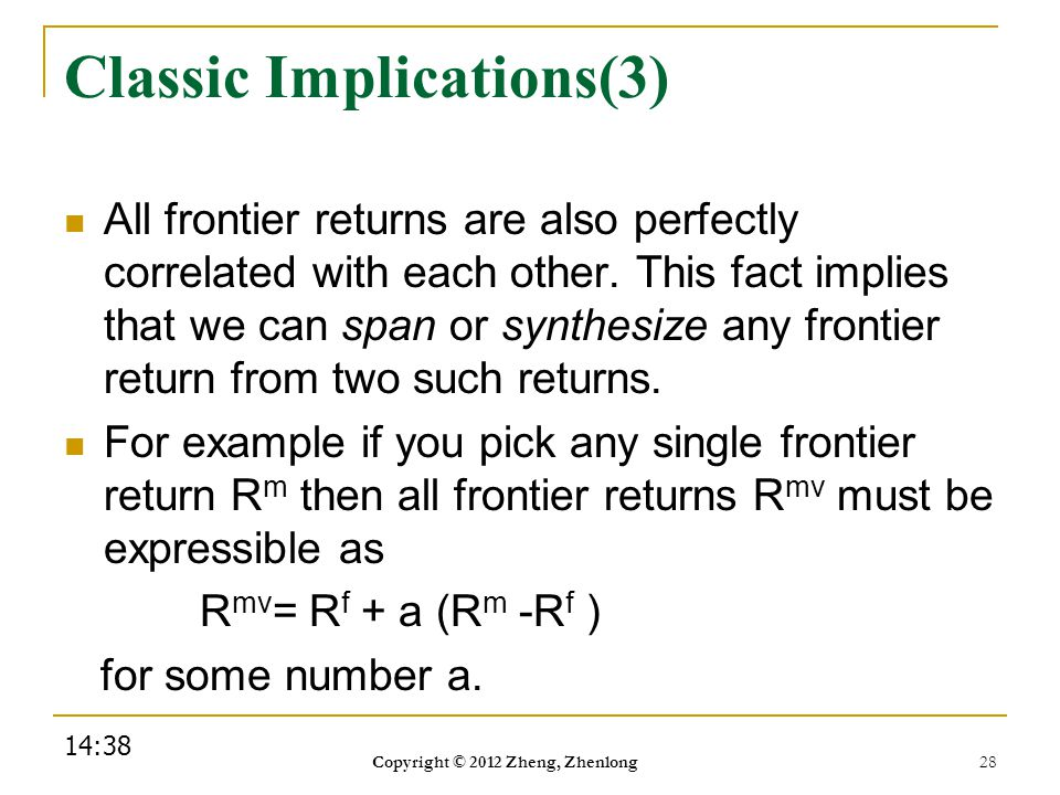 Classic Implications(3)