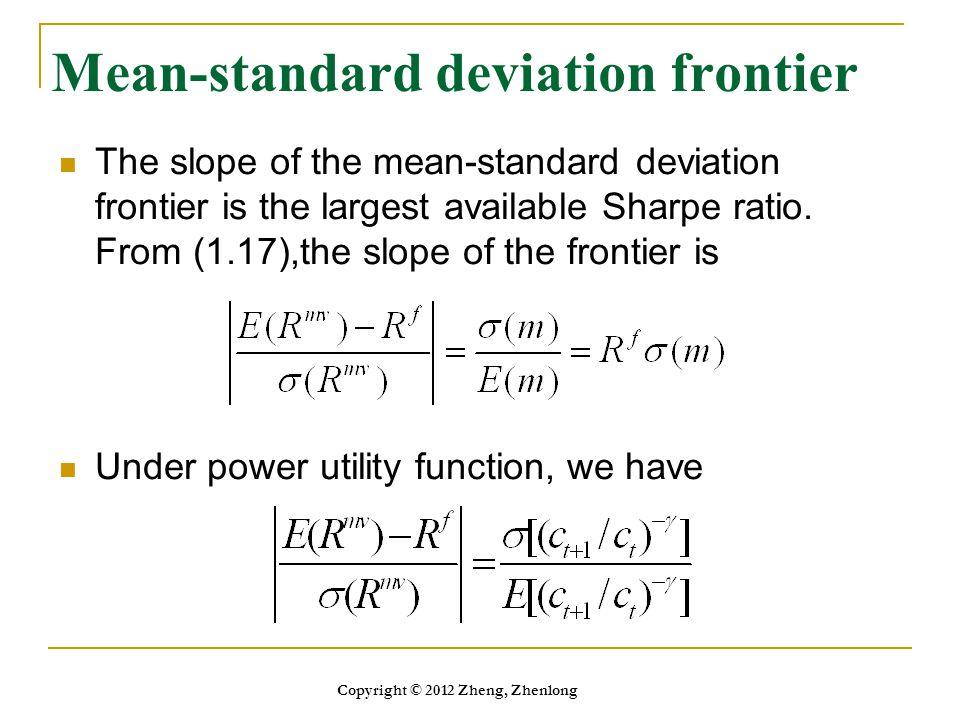 Mean-standard deviation frontier