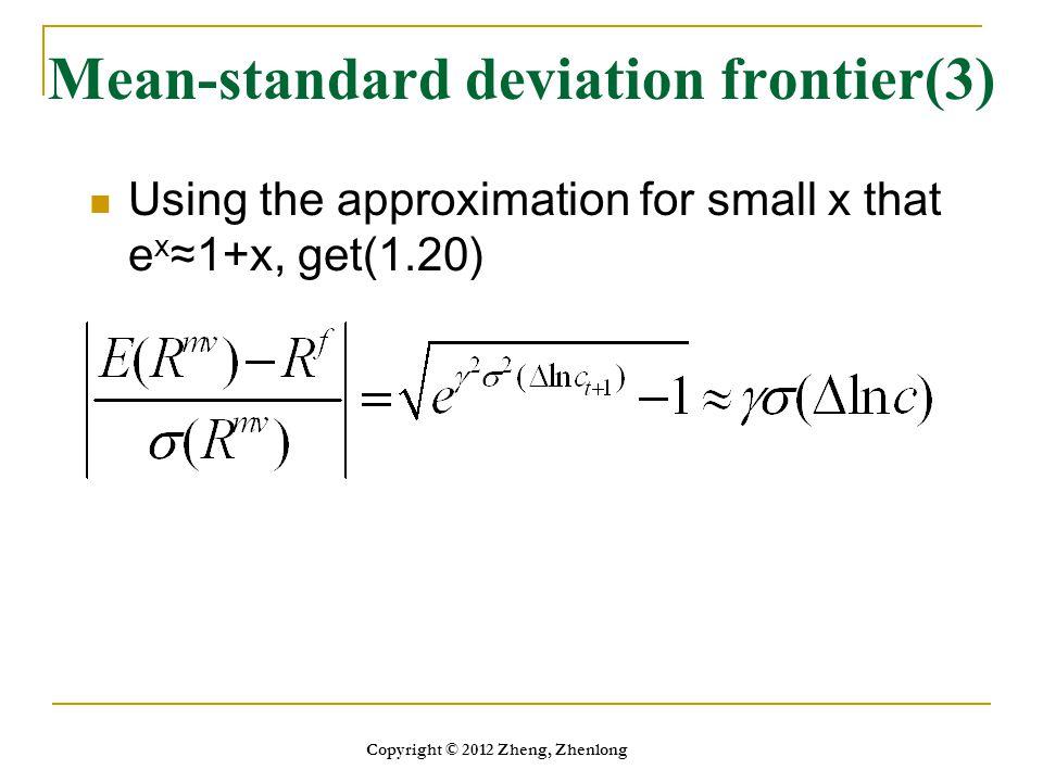 Mean-standard deviation frontier(3)