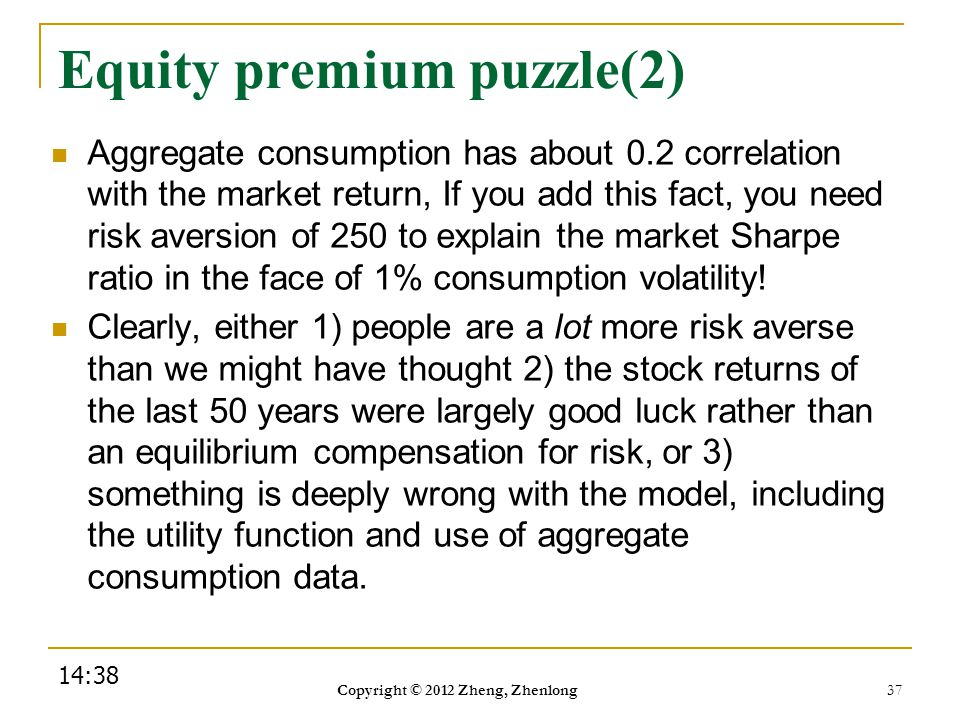 Equity premium puzzle(2)