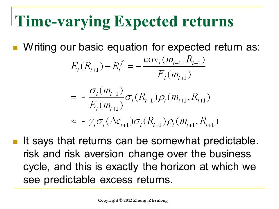 Time-varying Expected returns
