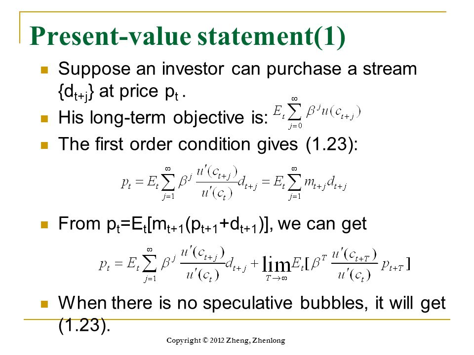 Present-value statement(1)