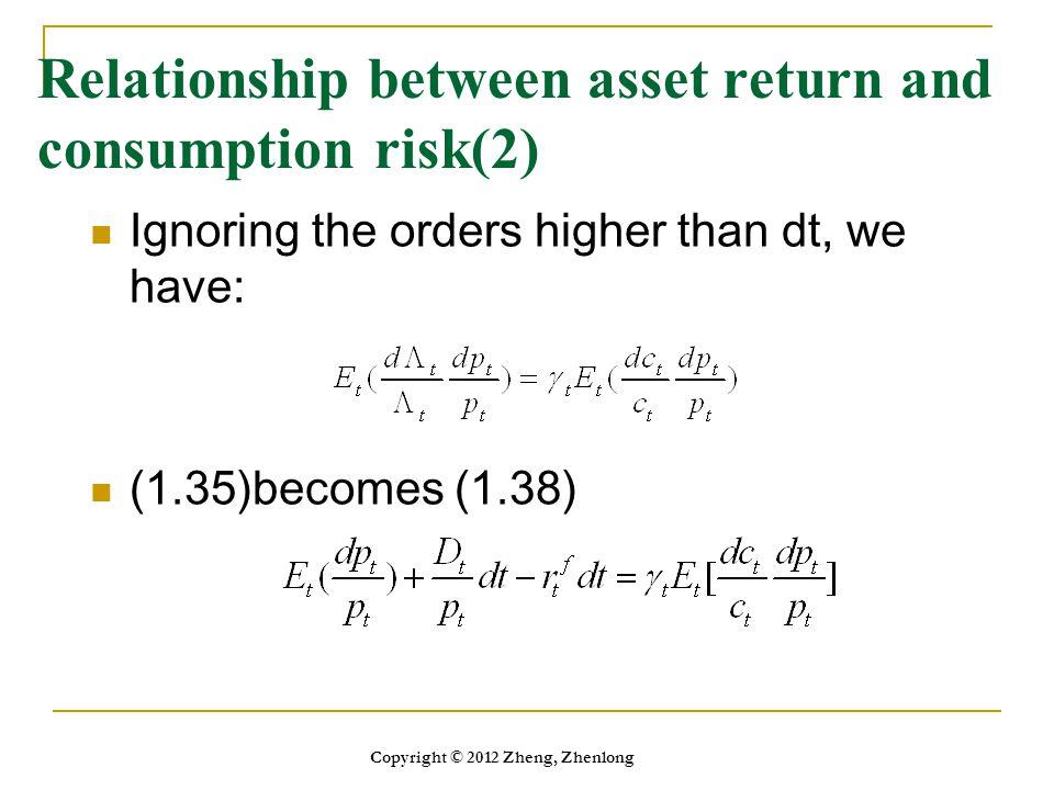 Relationship between asset return and consumption risk(2)