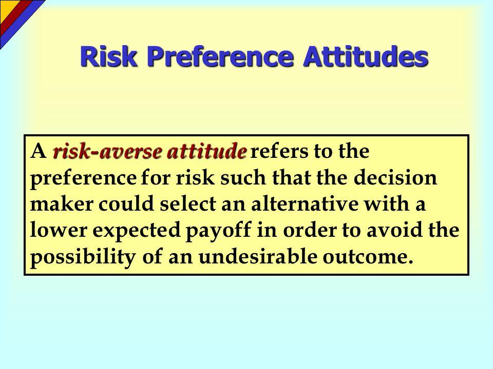 Risk Preference Attitudes