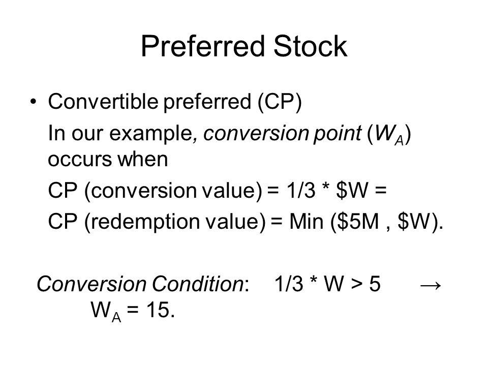 Preferred Stock Convertible preferred (CP)