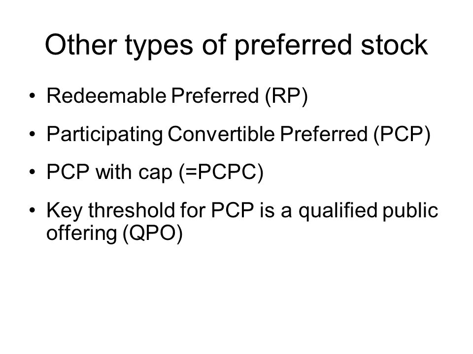 Other types of preferred stock