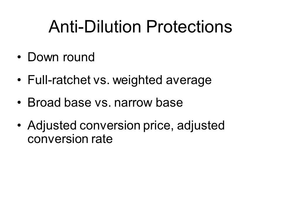 Anti-Dilution Protections