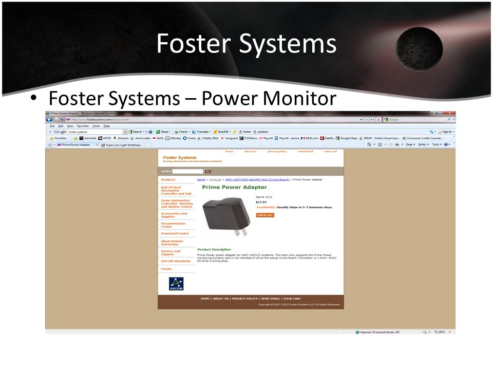 Foster Systems Foster Systems – Power Monitor