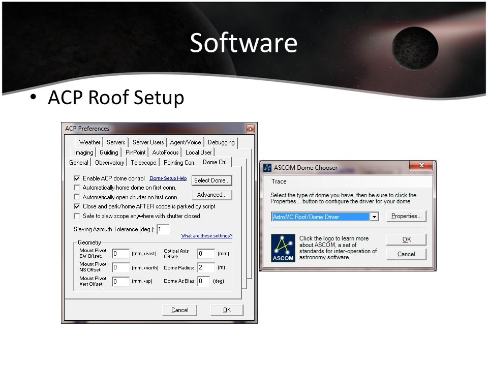 Software ACP Roof Setup