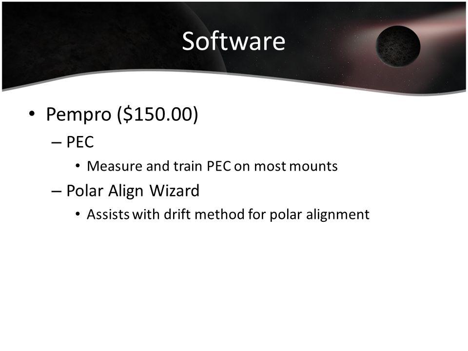 Software Pempro ($150.00) PEC Polar Align Wizard
