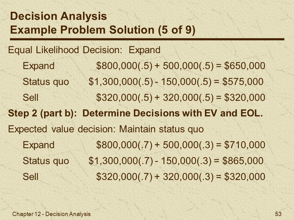 Example Problem Solution (5 of 9)