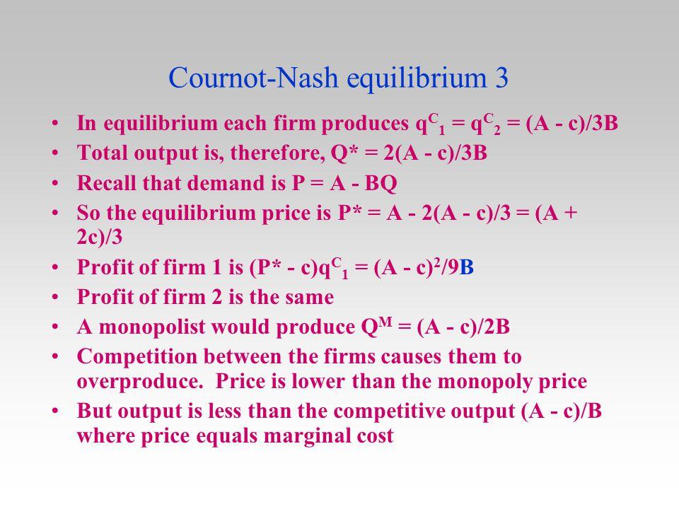Cournot-Nash equilibrium 3