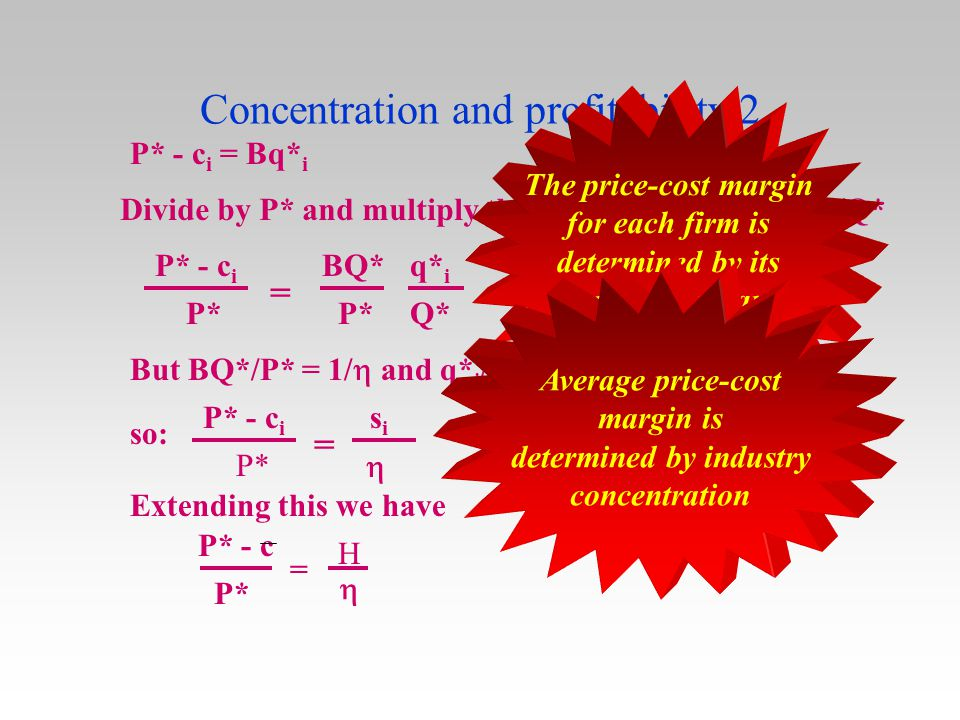 Concentration and profitability 2