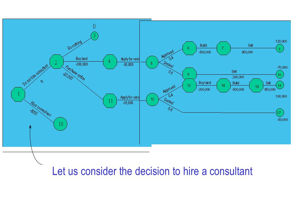Let us consider the decision to hire a consultant