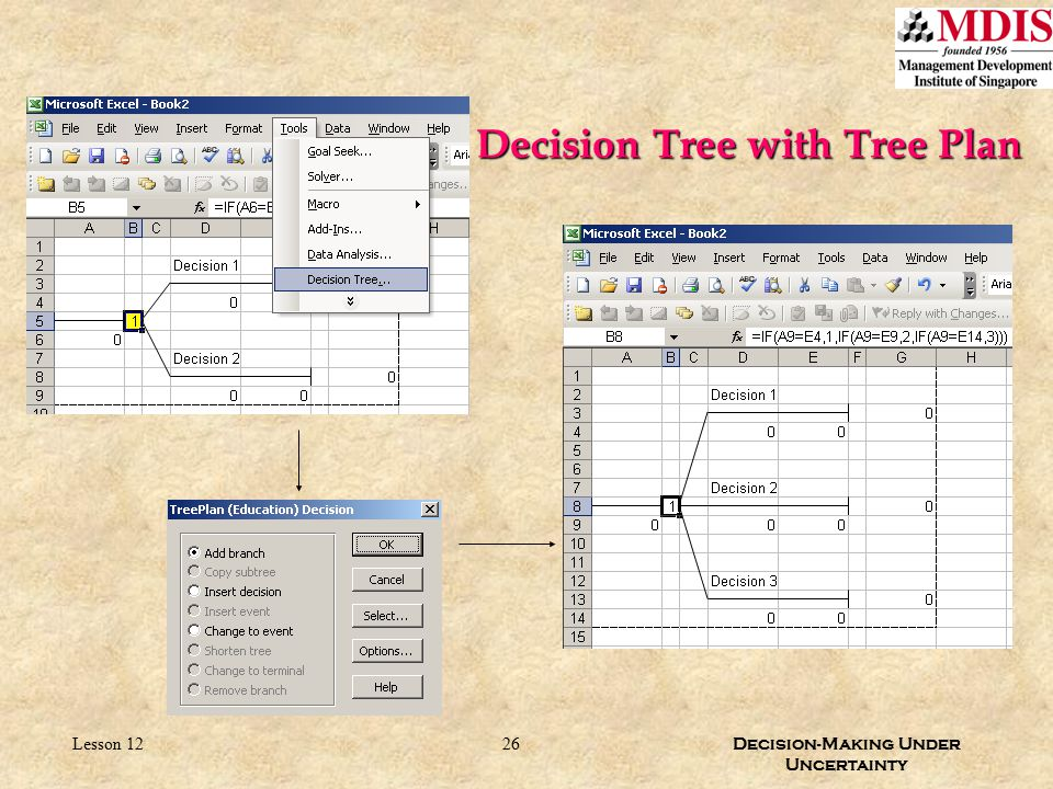 Decision Tree with Tree Plan