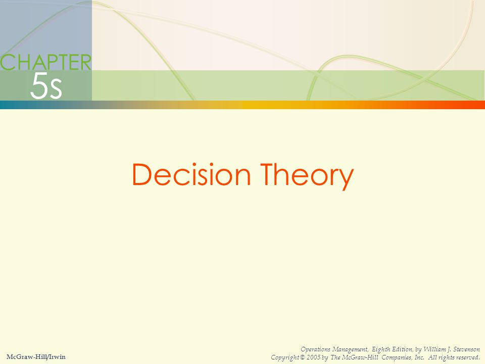 5s Decision Theory CHAPTER