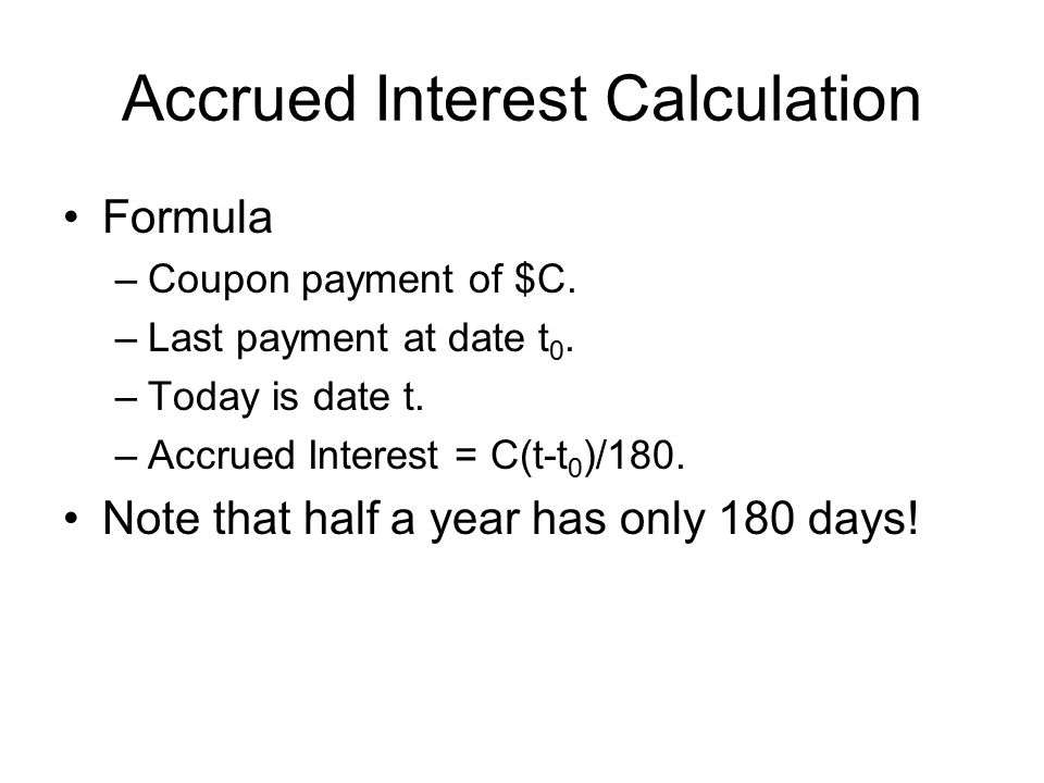 Accrued Interest Calculation