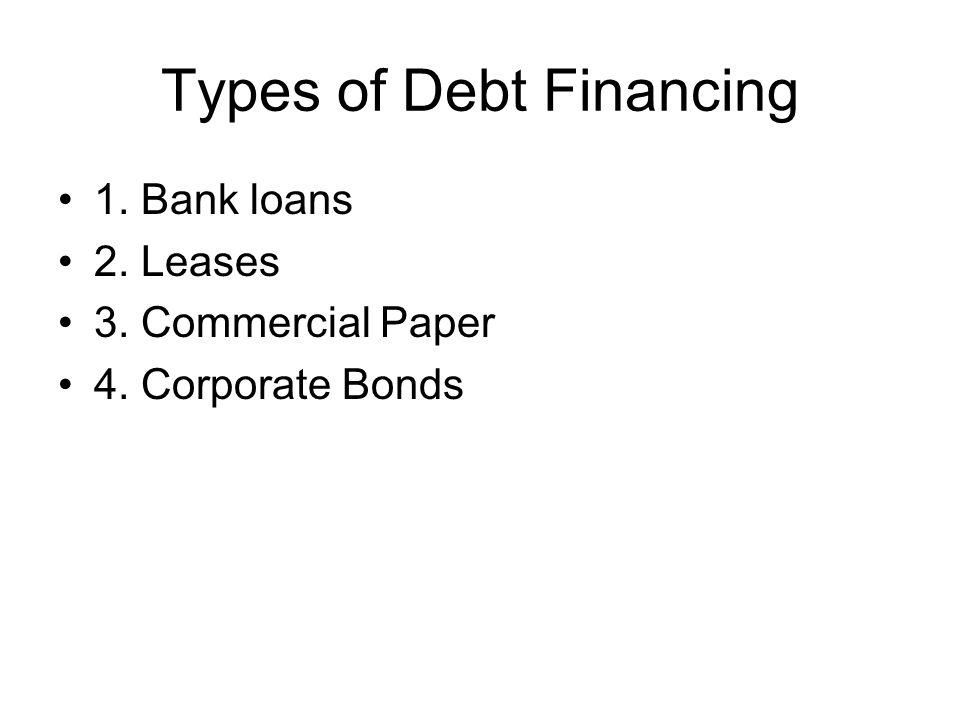 Types of Debt Financing