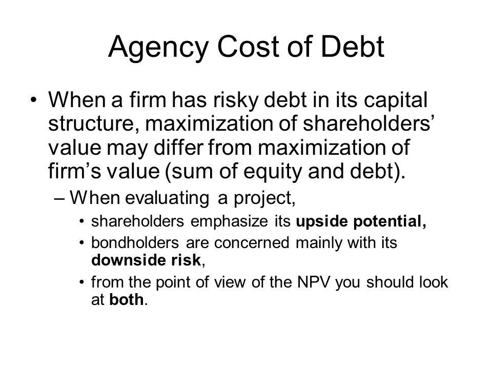 Agency Cost of Debt