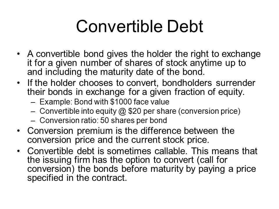 Convertible Debt