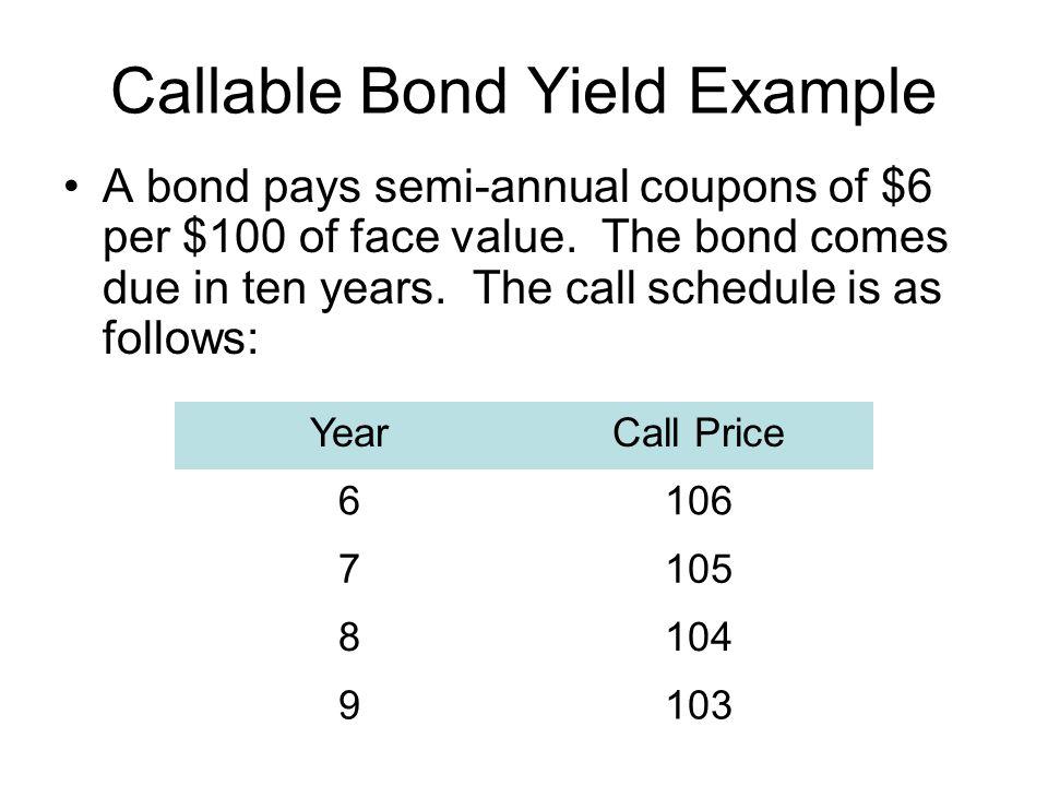 Callable Bond Yield Example
