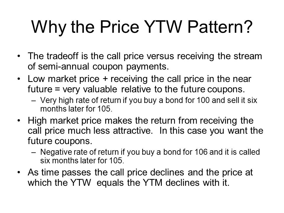 Why the Price YTW Pattern