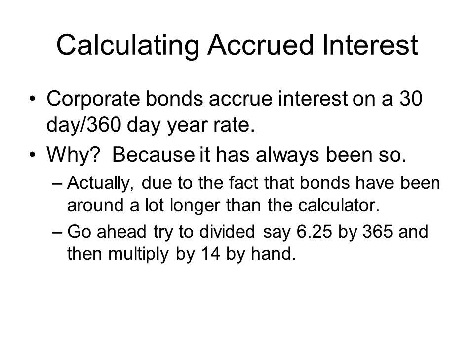 Calculating Accrued Interest