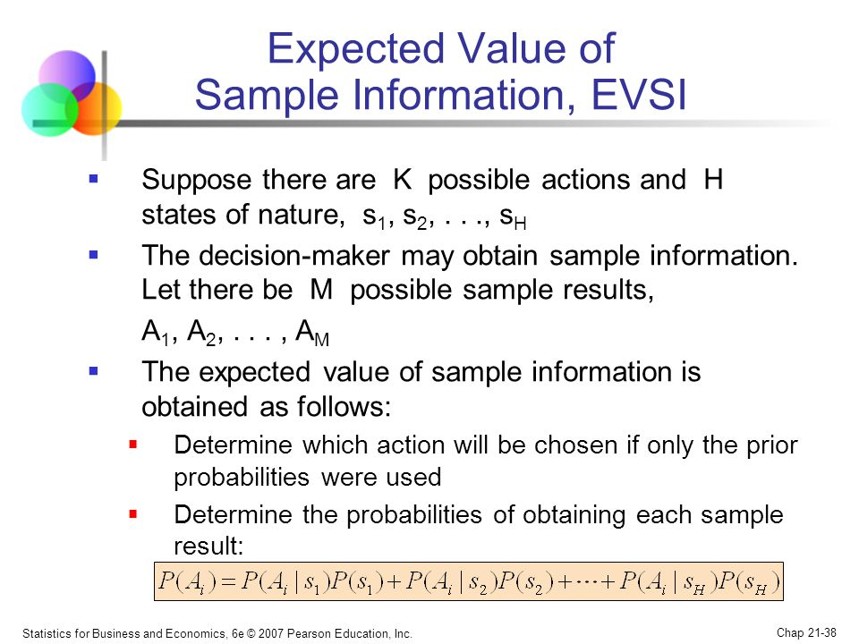 Expected Value of Sample Information, EVSI