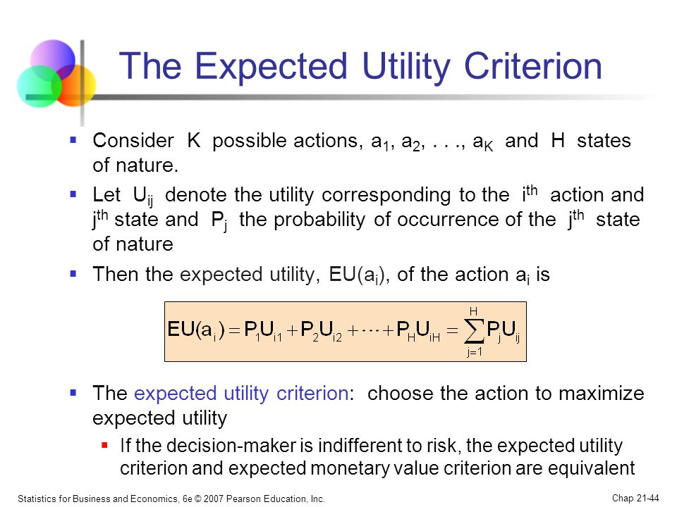 The Expected Utility Criterion